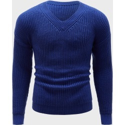 Men Solid Rib-Knit V Neck Sweater found on Bargain Bro India from SHEIN for $27.41