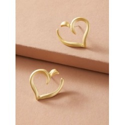 1pair Hollow Out Heart Stud Earrings found on Bargain Bro India from Sheinside for $2.00