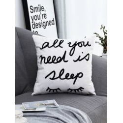 Slogan Print Cushion Cover found on Bargain Bro from Sheinside for USD $3.04