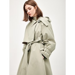 Wrap Belted Slant Pocket Trench Coat found on Bargain Bro Philippines from SHEIN for $68.42