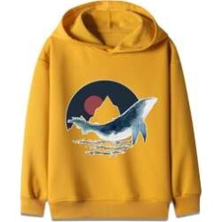 Boys Whale Print Hooded Sweatshirt found on MODAPINS from Sheinside for USD $13.00