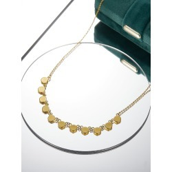 18K Gold Plated Round Decor Necklace found on Bargain Bro Philippines from SHEIN for $7.32