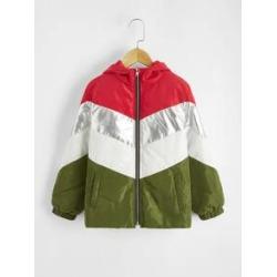 Boys Chevron Puffer Jacket