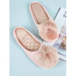 Pom Pom Decor Flat Slippers found on Bargain Bro India from Sheinside for $10.00