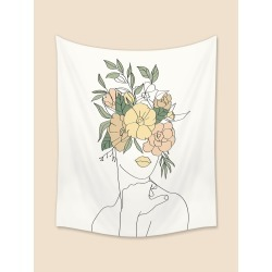 Abstract Figure Graphic Tapestry found on Bargain Bro from SHEIN for USD $6.41