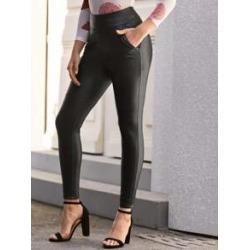 PU Leather Skinny Pants