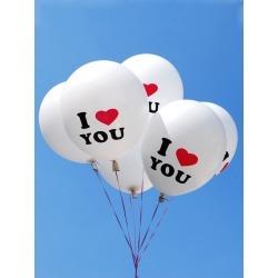 I Love You Balloons 10pcs