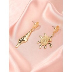 Conch Charm Mismatched Drop Earrings found on Bargain Bro from Sheinside for USD $1.52