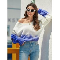 Two Tone Drop Shoulder Sweater found on Bargain Bro Philippines from Sheinside for $22.00