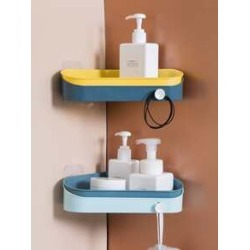 1pc Wall Mount Triangle Drain Storage Rack