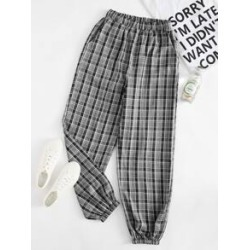 Plus Plaid Carrot Pants found on Bargain Bro Philippines from Sheinside for $14.00