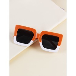 Toddler Kids Two Tone Square Frame Sunglasses found on Bargain Bro from SHEIN for USD $5.89