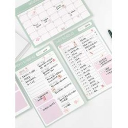 1pc Weekly Schedule Note Pad
