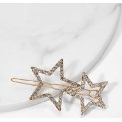 Star Design Rhinestone Hair Clip