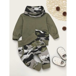 Toddler Boys Camo Print Sweatshirt & Sweatpants found on Bargain Bro Philippines from SHEIN for $20.72