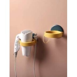1pc Wall Mount Hair Dryer Rack