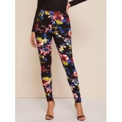 Floral Print Skinny Pants