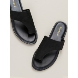 Solid Toe Loop Asymmetric Band Slide Sandals found on Bargain Bro Philippines from Sheinside for $14.00