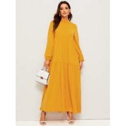 Mock-neck Tunic Hijab Dress