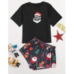 Christmas Print Pajama Set
