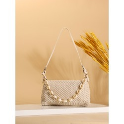 Chain Decor Vacation Straw Baguette Bag found on Bargain Bro Philippines from SHEIN for $7.32