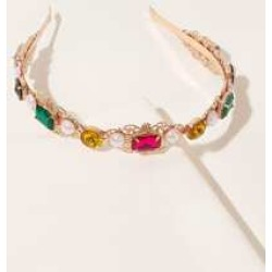 Faux Pearl & Gemstone Decor Hair Hoop found on Bargain Bro India from Sheinside for $4.00