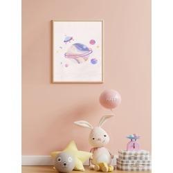 Planet Print Kids Unframed Painting