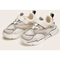 Girls Velcro Strap Chunky Sole Trainers
