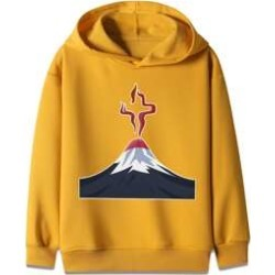 Boys Volcanic Print Hooded Sweatshirt found on MODAPINS from Sheinside for USD $13.00