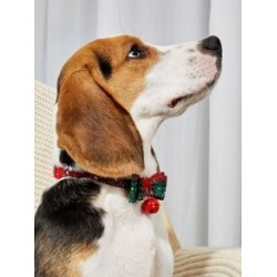 Christmas Plaid Bow Decor Pet Collar found on Bargain Bro from Sheinside for USD $3.80