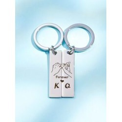 2pcs Men Couple Keychain found on Bargain Bro Philippines from Sheinside for $2.00