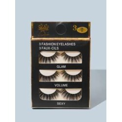 3pairs Natural Long False Eyelashes found on MODAPINS from Sheinside for USD $3.00