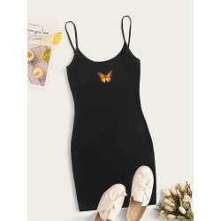 Butterfly Graphic Bodycon Mini Dress found on Bargain Bro India from SHEIN for $8.51