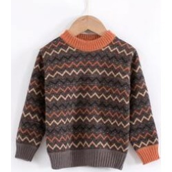 Toddler Boy Ribbed Knit Fair Isle Sweater