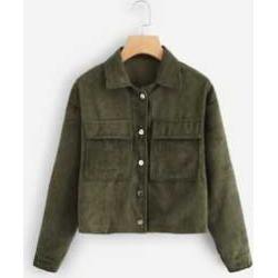 Pocket Decoration Solid Jacket