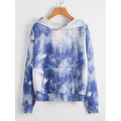 Tie Dye Print Hooded Sweatshirt found on MODAPINS from Sheinside for USD $15.00