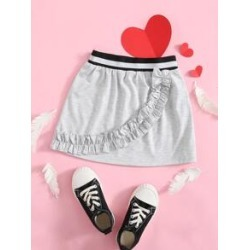 Toddler Girls Ruffle Trim Straight Skirt found on Bargain Bro from Sheinside for USD $6.08