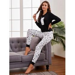 Letter Graphic Pajama Set