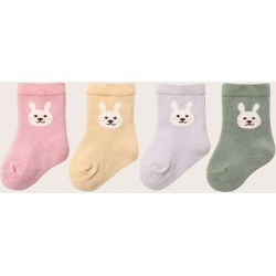 4pairs Baby Cartoon Rabbit Graphic Socks found on Bargain Bro Philippines from SHEIN for $7.32