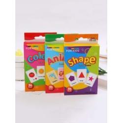 1pc Kid Animal & Shape & Colour Cognitive Card