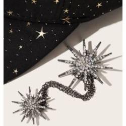 Rhinestone Star Shaped Chain Collar Tips 1pc