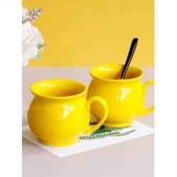 1pc Solid Color Ceramic Coffee Mug