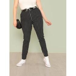 Plus Striped Skinny Pants