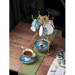 1pc European Ceramic Coffee Cup & & 1pc Saucer