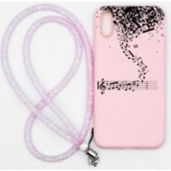 Note Pattern iPhone Case With Strap