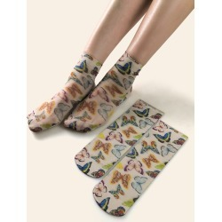 2pairs Butterfly Print Ankle Socks