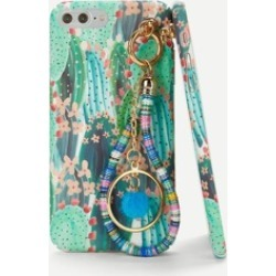 Cactus Print iPhone Case With Charm