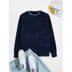 Men Contrast Trim Sweater found on Bargain Bro from Sheinside for USD $20.52
