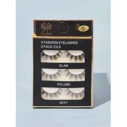 3pairs 3D Long Natural False Eyelashes found on MODAPINS from Sheinside for USD $3.00