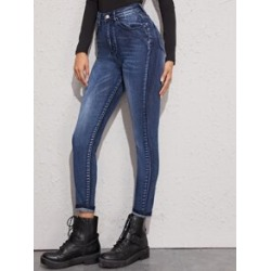Cat Whiskers 5-Pocket Skinny Jeans